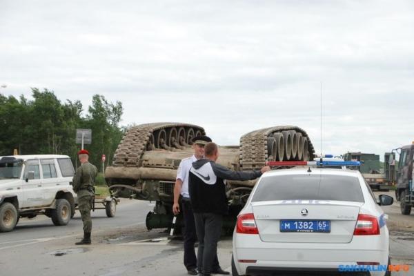 Ruski vojnici prevrnuli tenk težak 40 tona na sred uluce