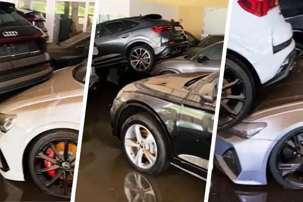 U nemačkom predstavništvu poplava uništila desetine Audi modela